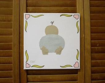 Baby Butt #1 Fabric Wall Art