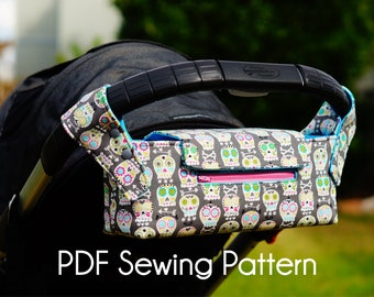 PDF SEWING PATTERN -  Pram Caddy/Pram Organiser/Stroller Caddy/Stroller Organiser/Stroller Bag/Wheelchair Bag/Shopping Trolley Organiser