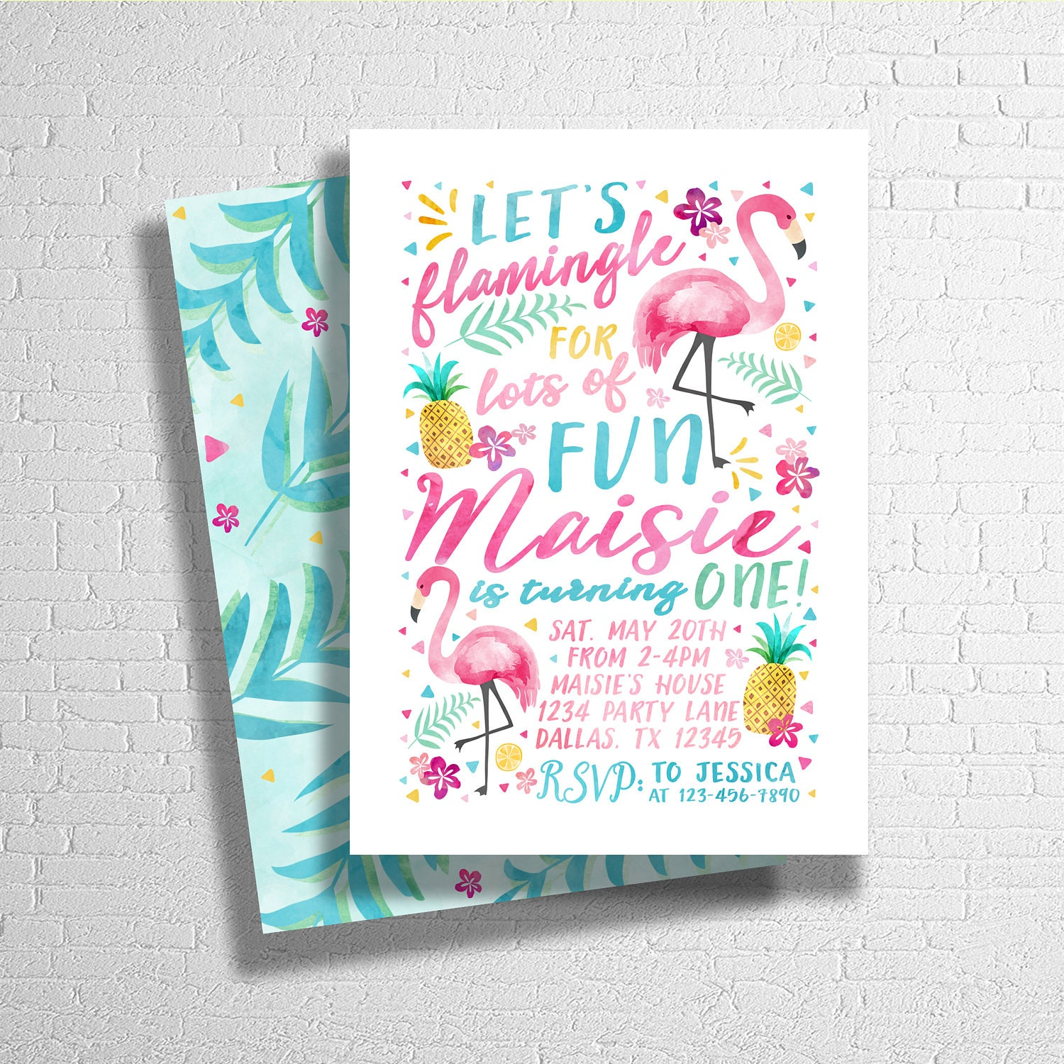 Lets Flamingle Invitation Flamingo Birthday Invitation – Flamingo Birthday Invitations