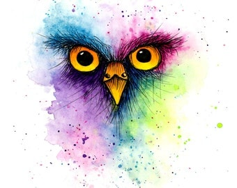 Watercolour Owl Art Print