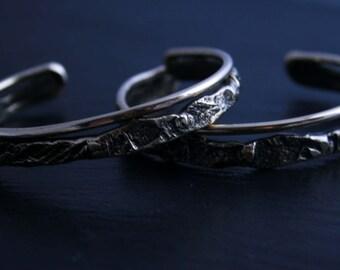 Cuff Bracelet: Bronze Textured Band