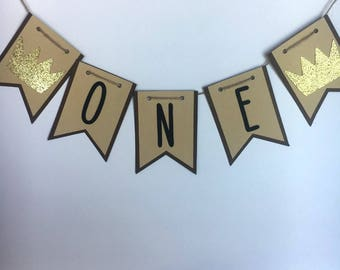 Custom Banner / Where The Wild Things Are Theme Party / Birthday / Age / Name
