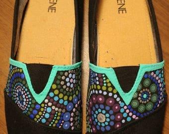 Cool Color Dot Art Shoes