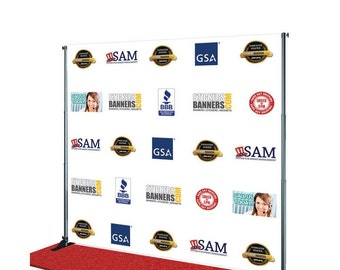 Custom Step and Repeat Banner ( Free Design By Bannerbuzz )