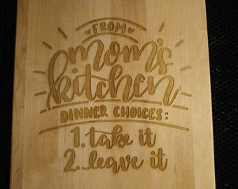 Mother's Day Engraved Cutting Boards -