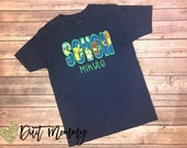 Ninja Turtles | Embroidered | Birthday Party Shirt | Personalized with Name and Age | Custom | Pick Your Deadline