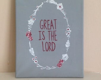 Great is the Lord canvas painting
