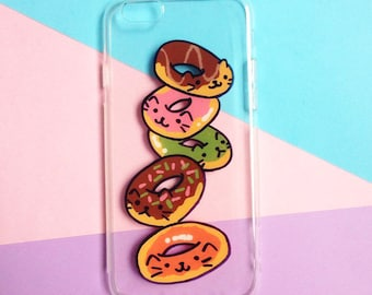 Hand painted donuts phone case, iPhone 6 case, iPhone 6s case, iPhone 7 case, Samsung Galaxy S8 Case - Samsung Galaxy S7 Edge Case