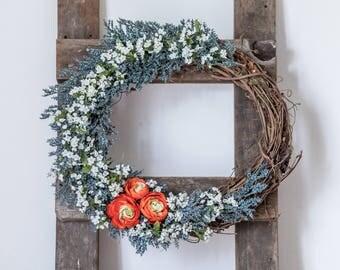 Modern Wreath, Hipster Wreath, Year Round Wreath, Fall Wreath, Housewarming Gift, Rustic Wreath, Summer Wreath, Spring Wreath, Decoration,