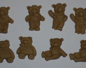Small Brown Teddies  x  8