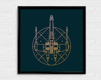 One Rebel - X-Wing Star Wars Inspired Print