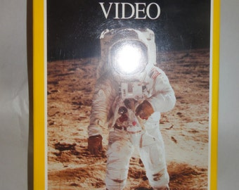 """Vintage 1992 National Geographic VHS """"For All Mankind"""" Astronaut/Never Opened"""