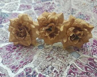 Gold Rose Hair Comb.