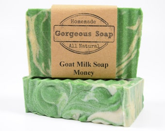 Money Goat Milk Soap - All Natural Soap, Handmade Soap, Homemade Soap, Handcrafted Soap