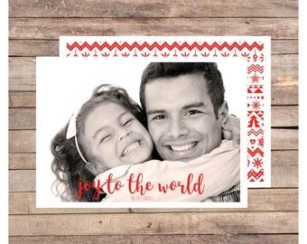 Lott Christmas Card, Photo Christmas Card, Holiday Card, Digital Christmas, Printable Christmas Card, Modern Christmas Card, Double Sided