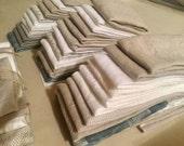 Linen remnants, fabrics scraps bundle, 100% linen