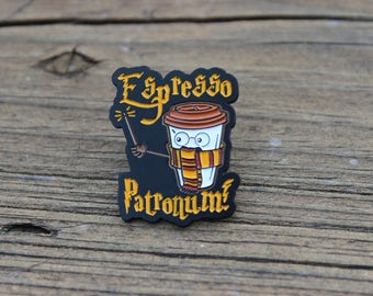 Espresso Patronum Adorable Coffee Lovers Enamel Lapel Pin for Harry Potter fans