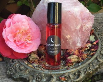 LUNAM LUST Perfume Oil -Magickally Charged, Passion, Seduction, Love Drawing, Captivating, Spellbinding, Bewitching