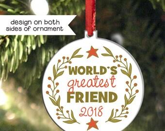 Best friend ornament | Etsy