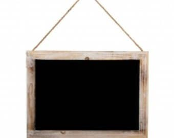 Vintage Medium Sized Hanging Chalkboard 30 x 40cm Chalk Board