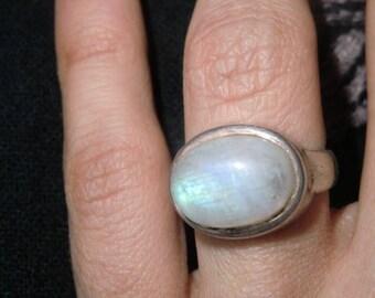 925 Silver ring with Moonstone Sterling sterling true vintage amethyste