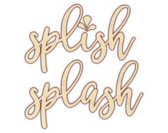 Splish Splash - Splish Splash Sign - Bathroom Art - Bathroom Wall Decor - 160180