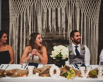 Macrame Wedding Ceremony Backdrop for an Arch, Arbor, Altar or Indoor Wedding Reception