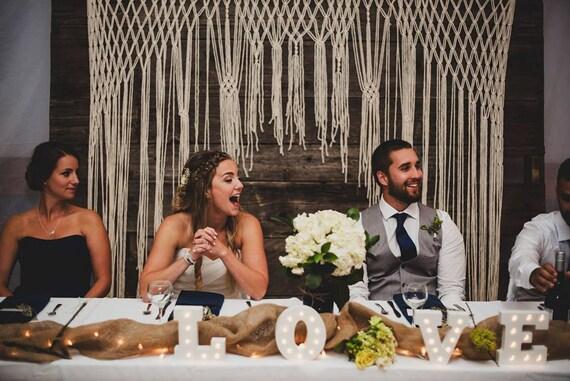 Macrame Wedding Ceremony Backdrop For An Arch Arbor Altar Or