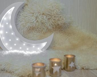 Moon lamp Gift for baby Night light Kids lamp Nursery night light Baby shower Lamp Moon Battery Operated Light Marquee lamp Moon nursery