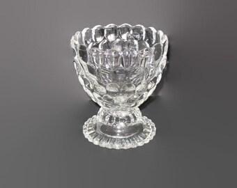 Vintage Avon, Bubble Glass Dish, Vintage Avon, Collectible Avon, Candy Dish, Candle Bowl, Home Decor, Glass Avon, Pedestal Dish