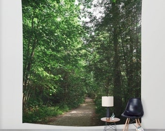 Afternoon Stroll  Tapestry  (Indoor/Outdoor) Forest Nature Photography Art/Wall Hanging/Picture/Tapestries/Light Weight/Home Decor