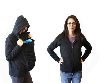Baby Carrier Cover | Maternity Coat Softshell | Mom and Baby Hoodie (MEDIUM)