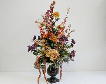 Rustic Centerpiece, Centerpiece, Big Centerpiece, Tall Centerpiece, Candlestick Centerpiece, Boho Centerpiece, Table Arrangement