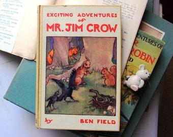 Mr. Jim Crow, Ben Field's 1928 Wildwood Series, Exciting Adventures of Mr. Jim Crow, A.L. Burt Adventure Books for Boys and Girls