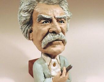 Mark Twain LabStone casting of my Original Sculpey Sculpture