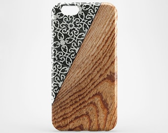 Moroccan Marble iPhone 8 Case iPhone X Case Wood iPhone 7 Plus Case iPhone 6 Case iPhone 7 iPhone 5 Case iPhone 4 Case Galaxy S8 Cover Phone