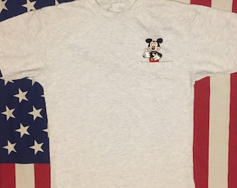 Vintage Mickey Mouse Pocket Tee