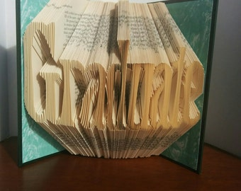 Graduate - Folded Book Art - Fully Customizable, University gift, high school