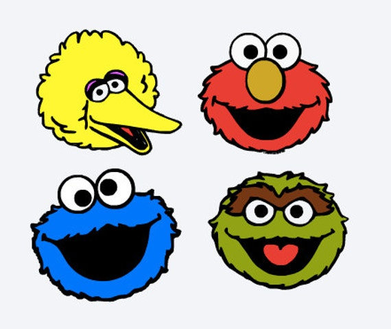 Sweet image within sesame street printable faces
