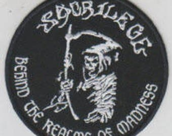 Sacrilege punk hardcore embroidered patch