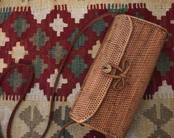 The Atok Shoulder Bag, Woven Rattan Bag, Basket Bag