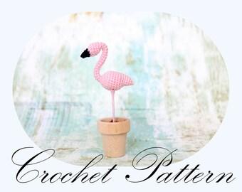 PATTERN: Crochet Flamingo, Flamingo Pattern, Amigurumi Pattern (English Only)