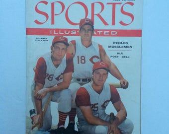 Sports Illustrated Magazine July 16 1956 Baseball Ted Kluszeweski, Gus Bell Cincinnati Reds