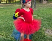 Parrot costume, macaw costume, parrot wings, parrot headband, leg feathers, costume wings, feather wings, parrot accessories, macaw headband