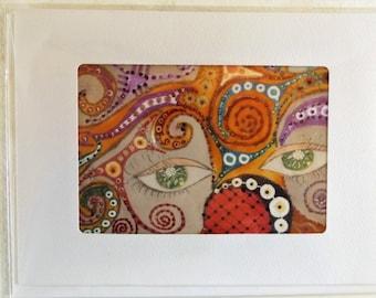 Fine Art Greeting Card: Creation IV CloseUp