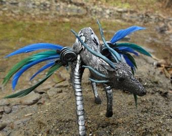 Wolf-dragon Zhaanin sculpture fantasy animal