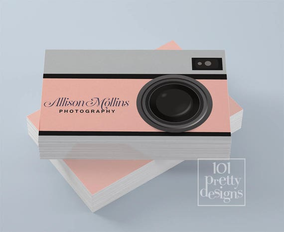 Photographer business card design camera business card