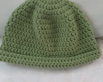 Cute beanie hat for men and women in bright green