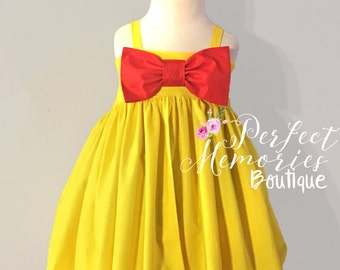 Belle Gown | Beauty and the Beast | Belle Princess Dress | Girls Princess Dress | Princess Belle | Princess Birthday Party | Belle Costume