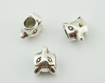 20pcs 11x9mm Fox Beads Charms Jewelry Pendants Findings MR